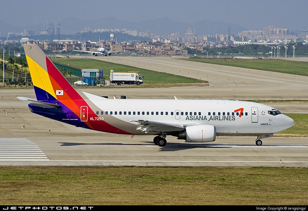 HL7250 - Boeing 737-58E - Asiana Airlines