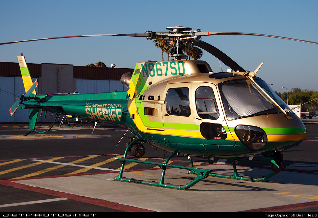 N967SD - Eurocopter AS 350B2 SuperStar - United States - Los Angeles County Sheriff