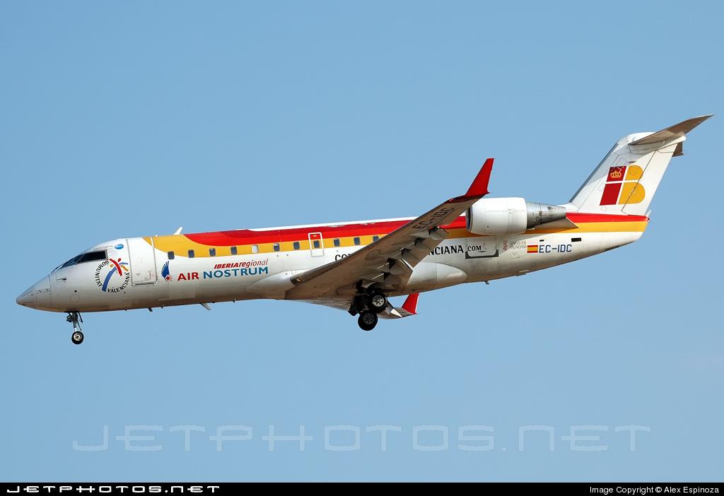 EC-IDC - Bombardier CRJ-200ER - Iberia Regional (Air Nostrum)