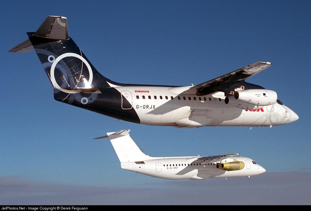 G-ORJX - British Aerospace Avro RJX85 - BAe Systems