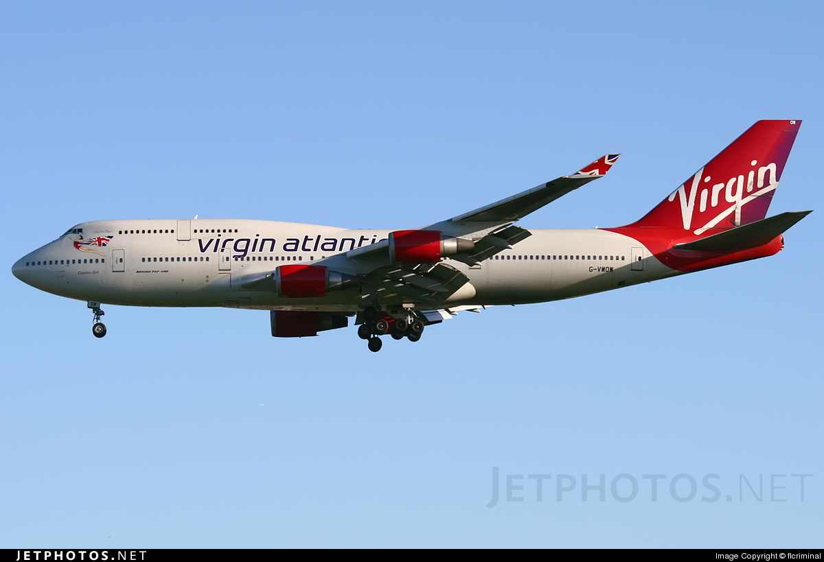 G-VWOW - Boeing 747-41R - Virgin Atlantic Airways
