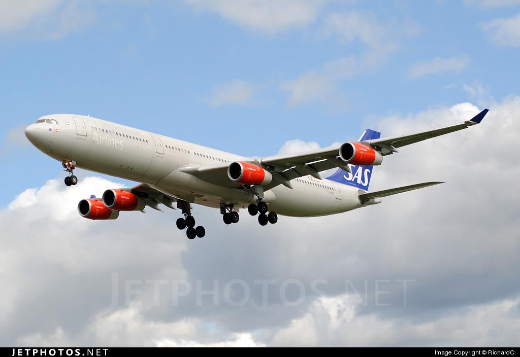 LN-RKF - Airbus A340-313X - Scandinavian Airlines (SAS)