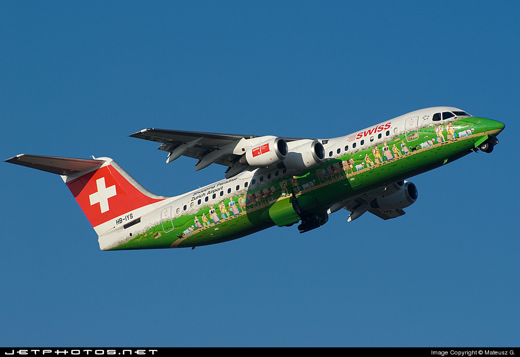 HB-IYS - British Aerospace Avro RJ100 - Swiss