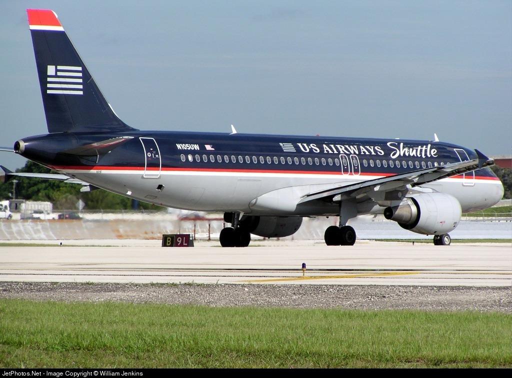 N105UW - Airbus A320-214 - US Airways Shuttle