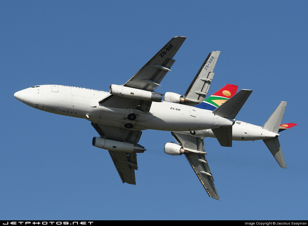 ZS-SIF - Boeing 737-244(Adv)(F) - South African Cargo