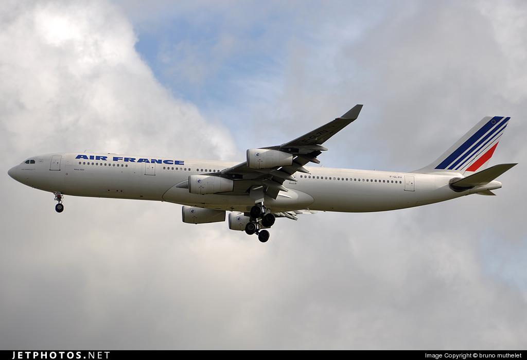 F-GLZU - Airbus A340-313X - Air France