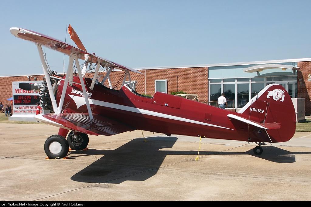 N53129 - Boeing A75N1 Stearman - Mississippi State University