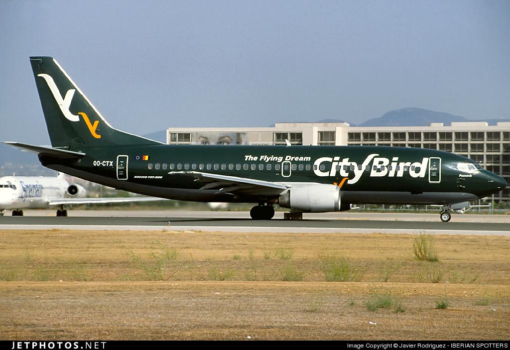 OO-CTX - Boeing 737-3L9 - CityBird