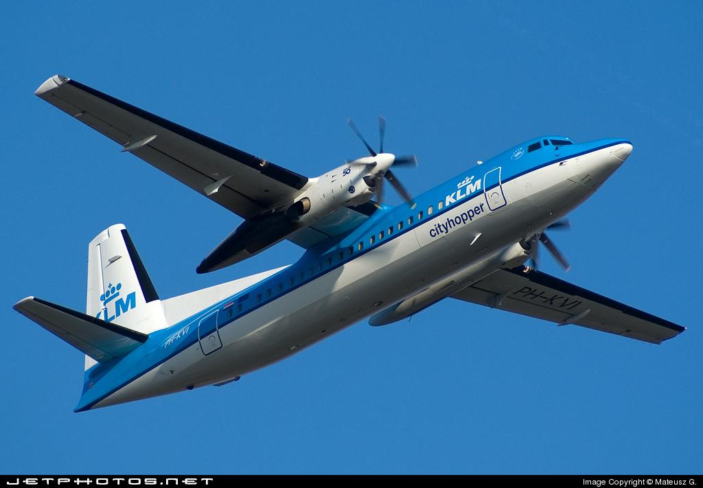 PH-KVI - Fokker 50 - KLM Cityhopper