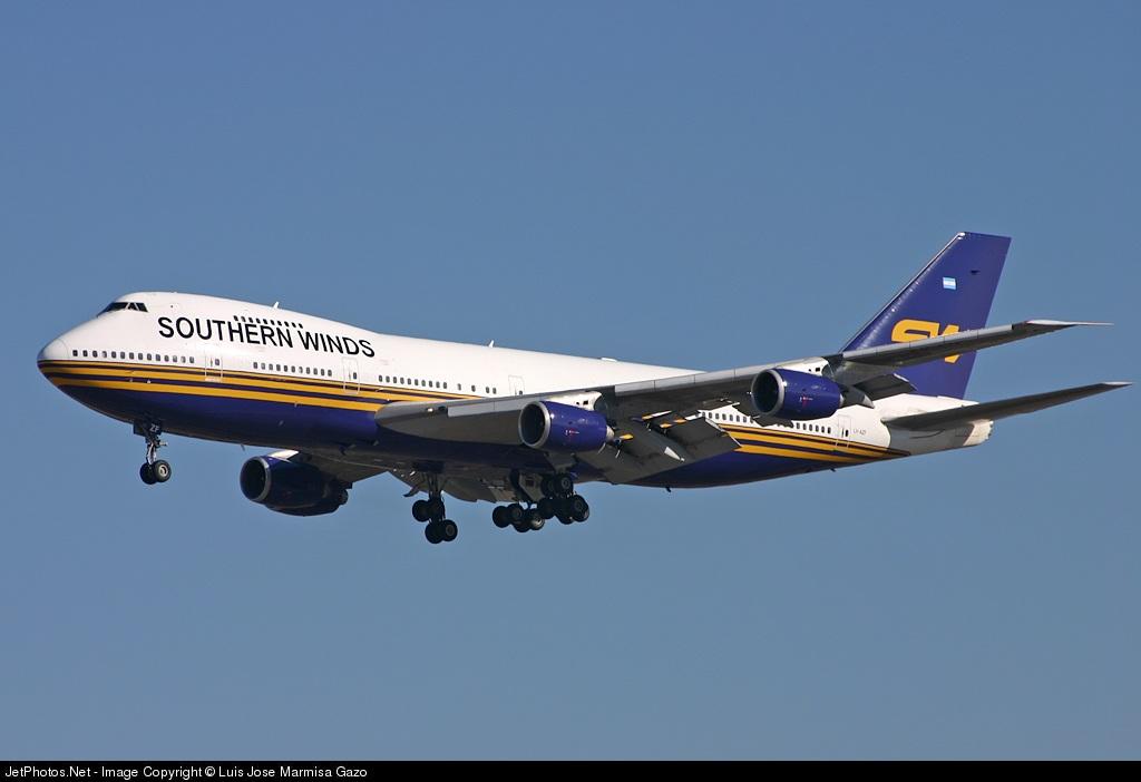 LV-AZF - Boeing 747-267B - Southern Winds