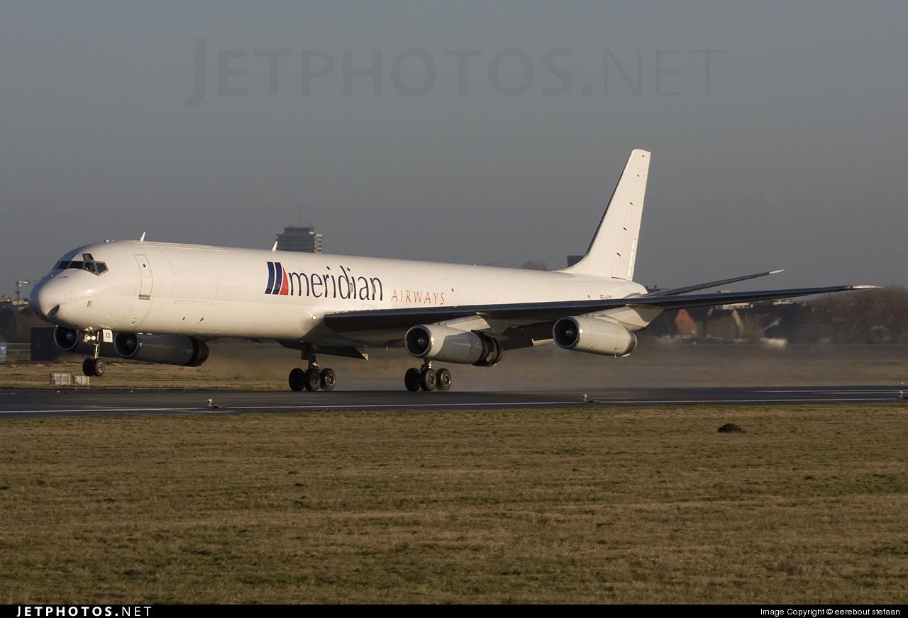 9G-AXD - Douglas DC-8-63(F) - Meridian Airways