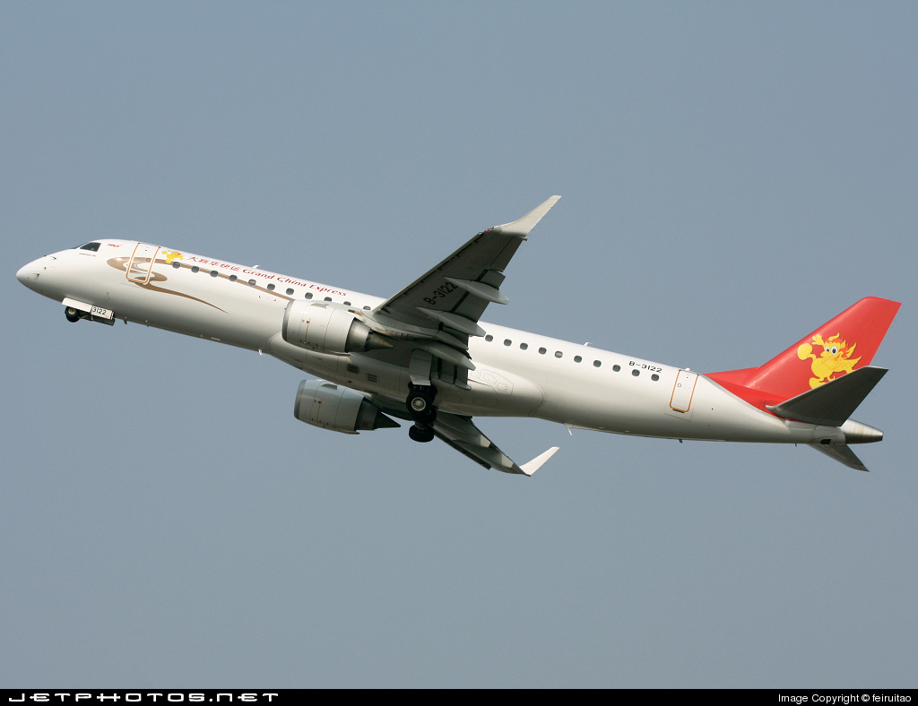 B-3122 - Embraer 190-100IGW - Grand China Express