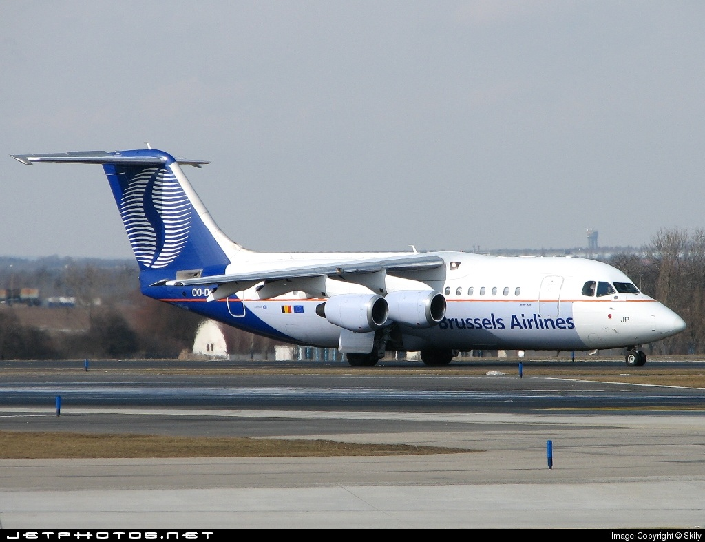 OO-DJP - British Aerospace Avro RJ85 - SN Brussels Airlines