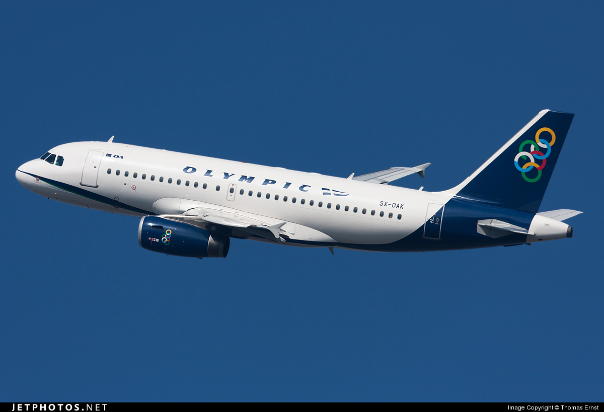 002726ee0c2 SX-OAK - Airbus A319-131 - Olympic Air