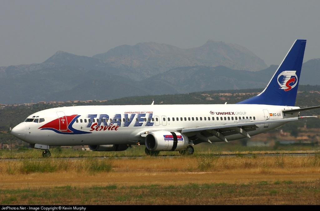 EC-ILX - Boeing 737-86N - Travel Service (Visig Operaciones Aéreas)