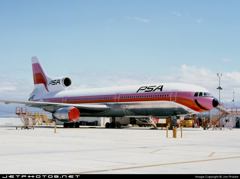 N10114 - Lockheed L-1011-1 Tristar - Pacific Southwest Airlines (PSA)