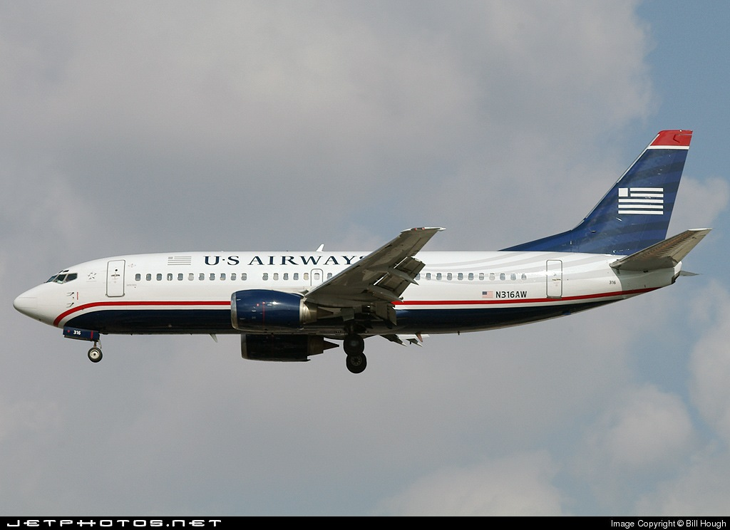 N316AW - Boeing 737-3S3 - US Airways (America West Airlines)