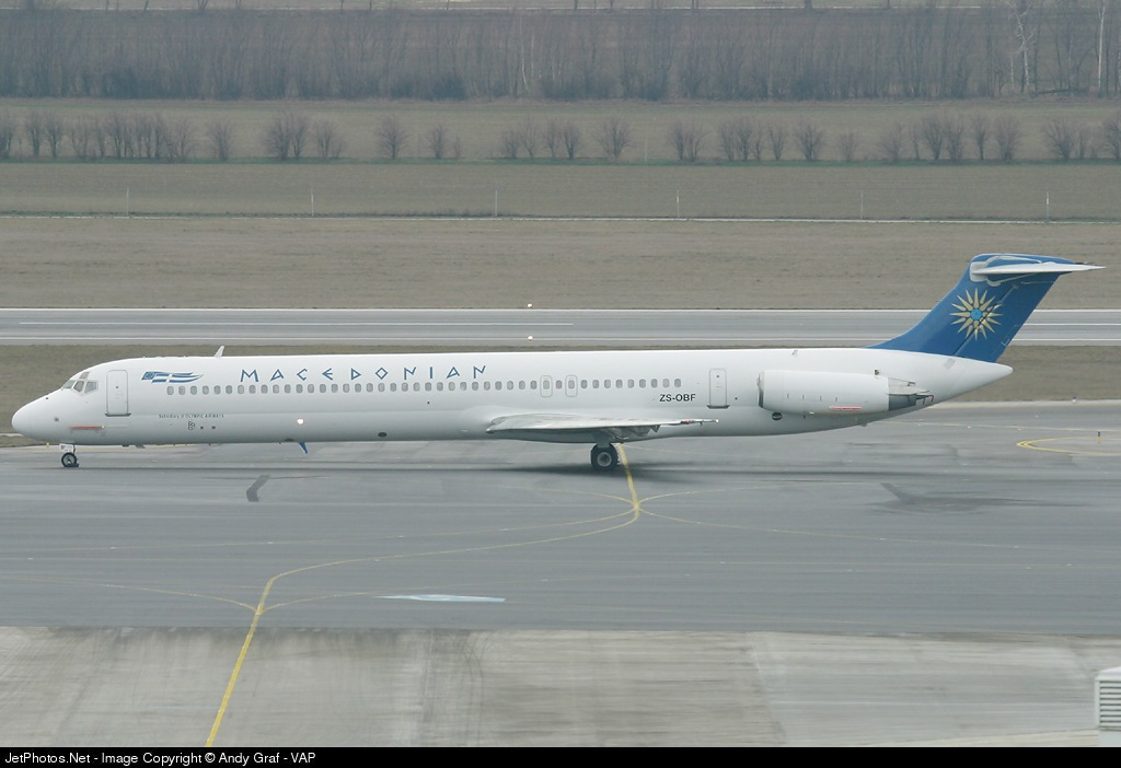 ZS-OBF - McDonnell Douglas MD-82 - Macedonian Airlines