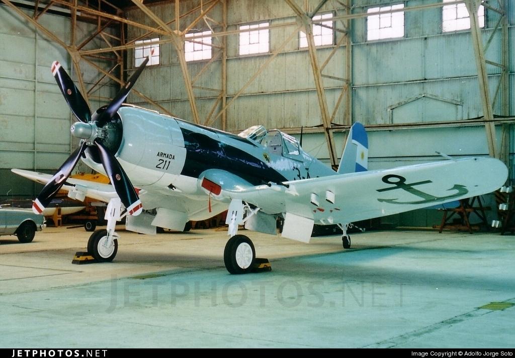 3 A 211 Chance Vought F4u 5 Corsair Argentina Navy