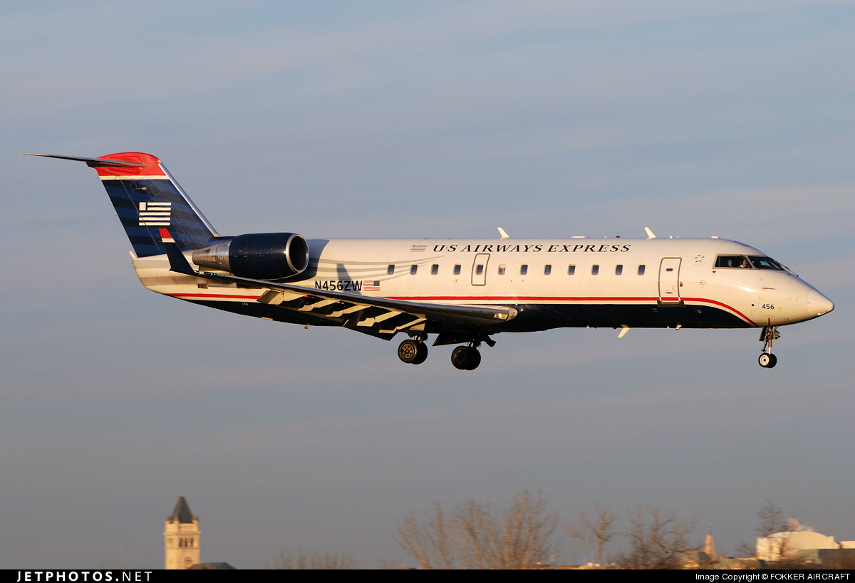 N456ZW - Bombardier CRJ-200LR - US Airways Express (Air Wisconsin)