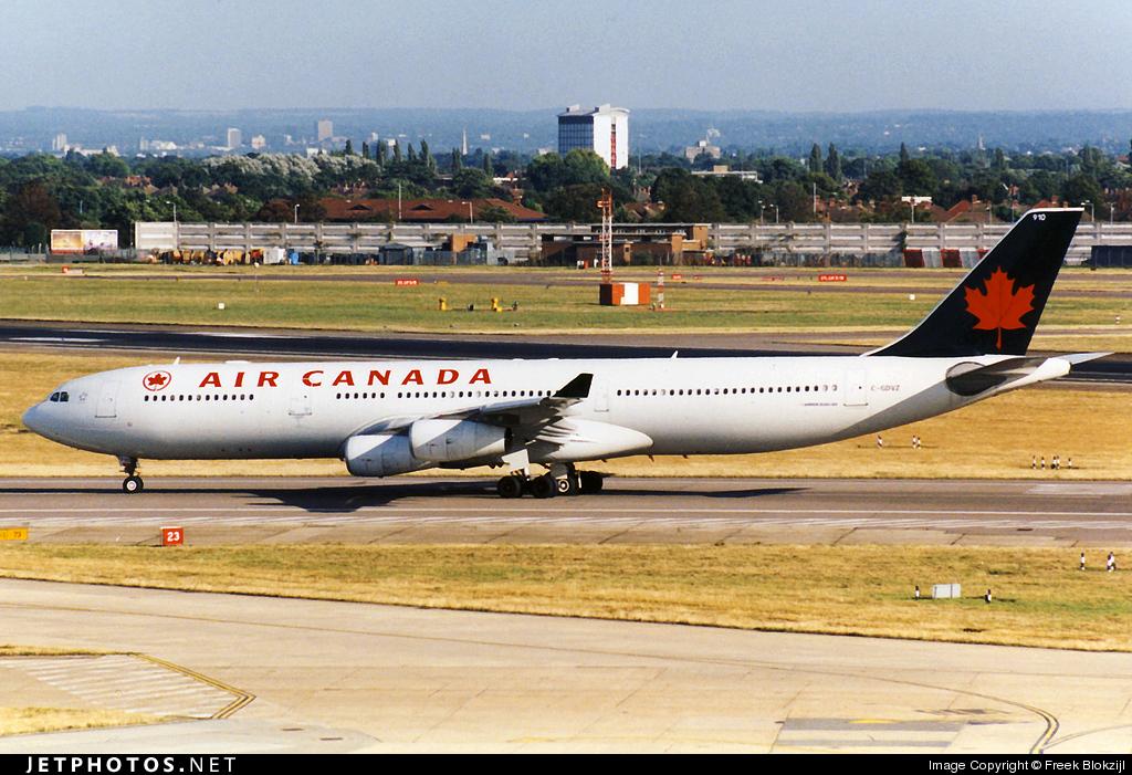 C-GDVZ - Airbus A340-313X - Air Canada