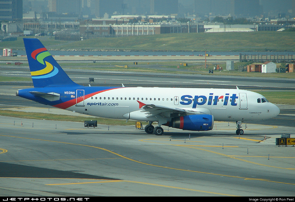 N501nk airbus a319 132 spirit airlines ron peel for Spirit airlines new york