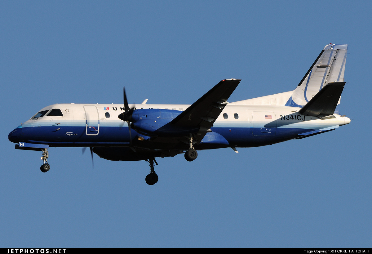 N341CJ - Saab 340B - United Express (Colgan Air)