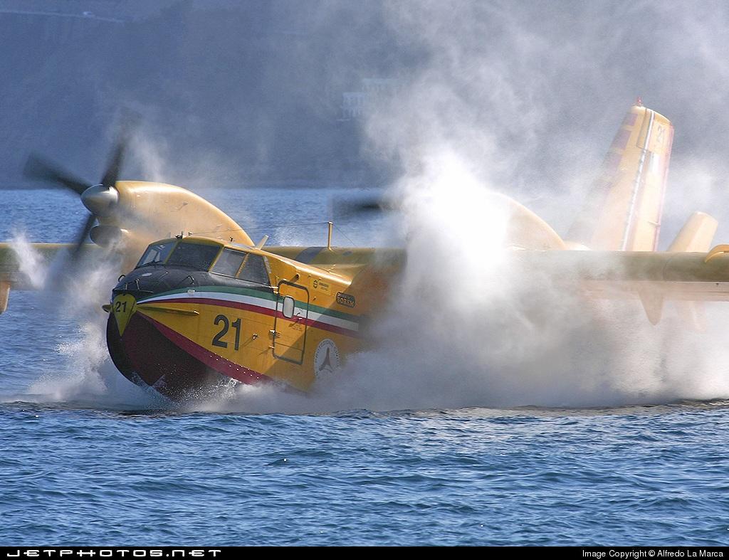 I-DPCZ - Canadair CL-415 - Italy - Protezione Civile