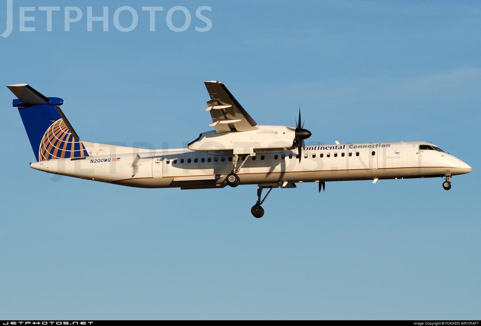 N200WQ - Bombardier Dash 8-Q402 - Continental Connection (Colgan Air)