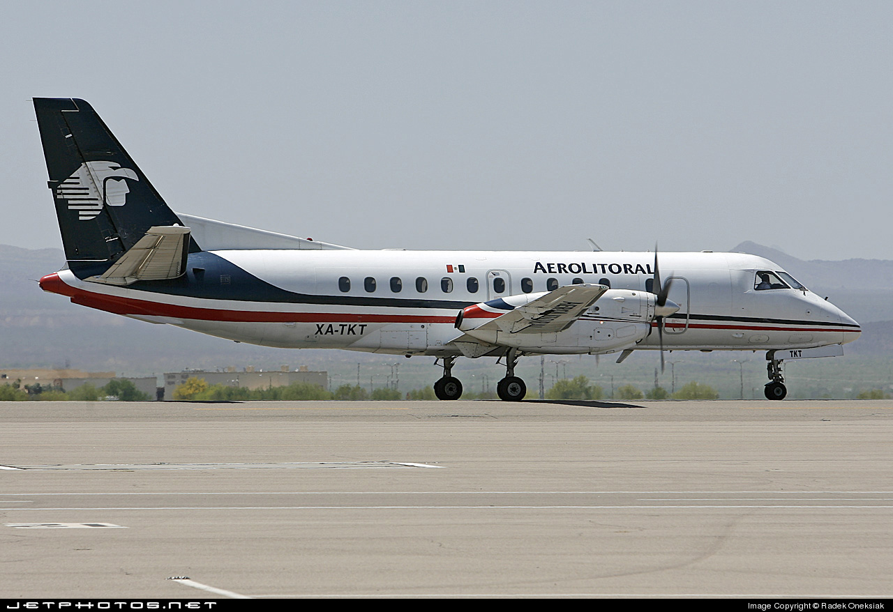 XA-TKT - Saab 340B - Aerolitoral