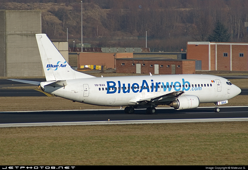 YR-BAA - Boeing 737-33A - Blue Air