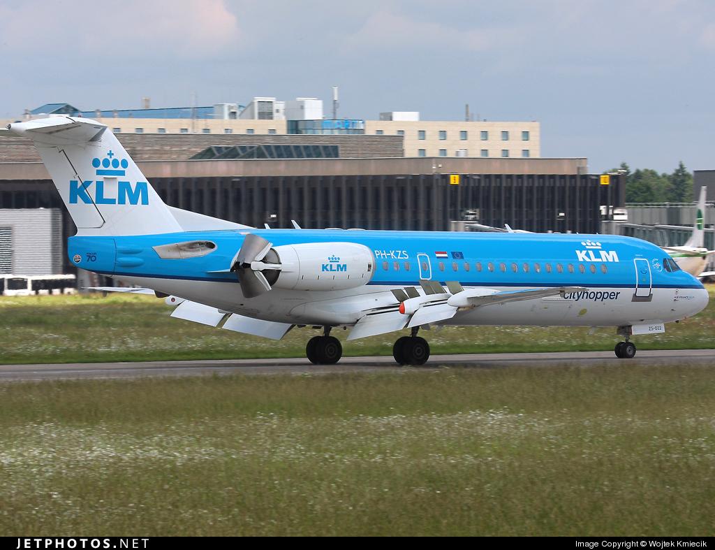 PH-KZS - Fokker 70 - KLM Cityhopper