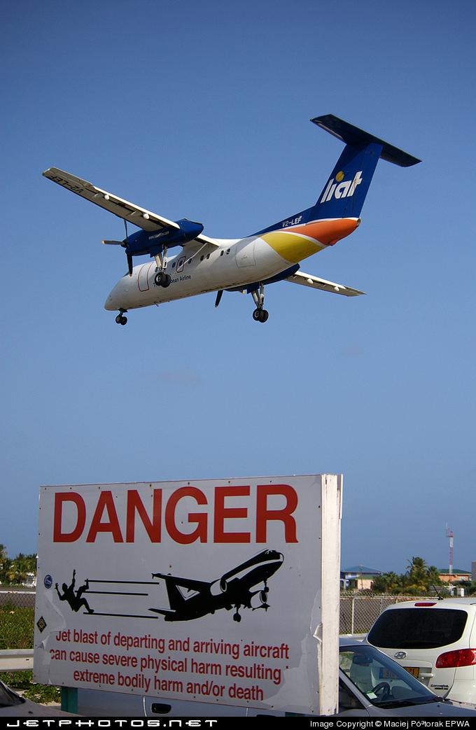 V2-LEF - Bombardier Dash 8-103 - Leeward Islands Air Transport (LIAT)