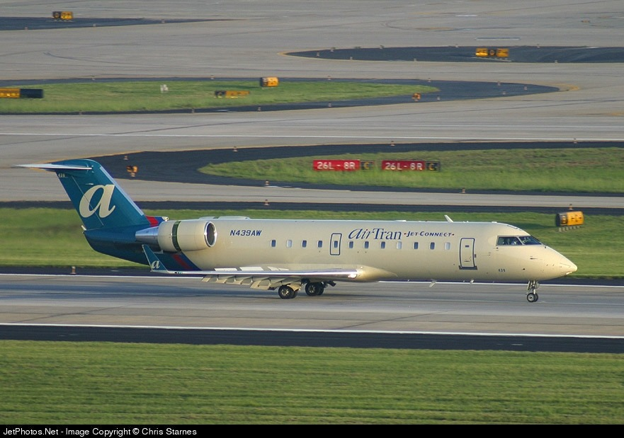 N439AW - Bombardier CRJ-200LR - airTran Jet Connect (Air Wisconsin)
