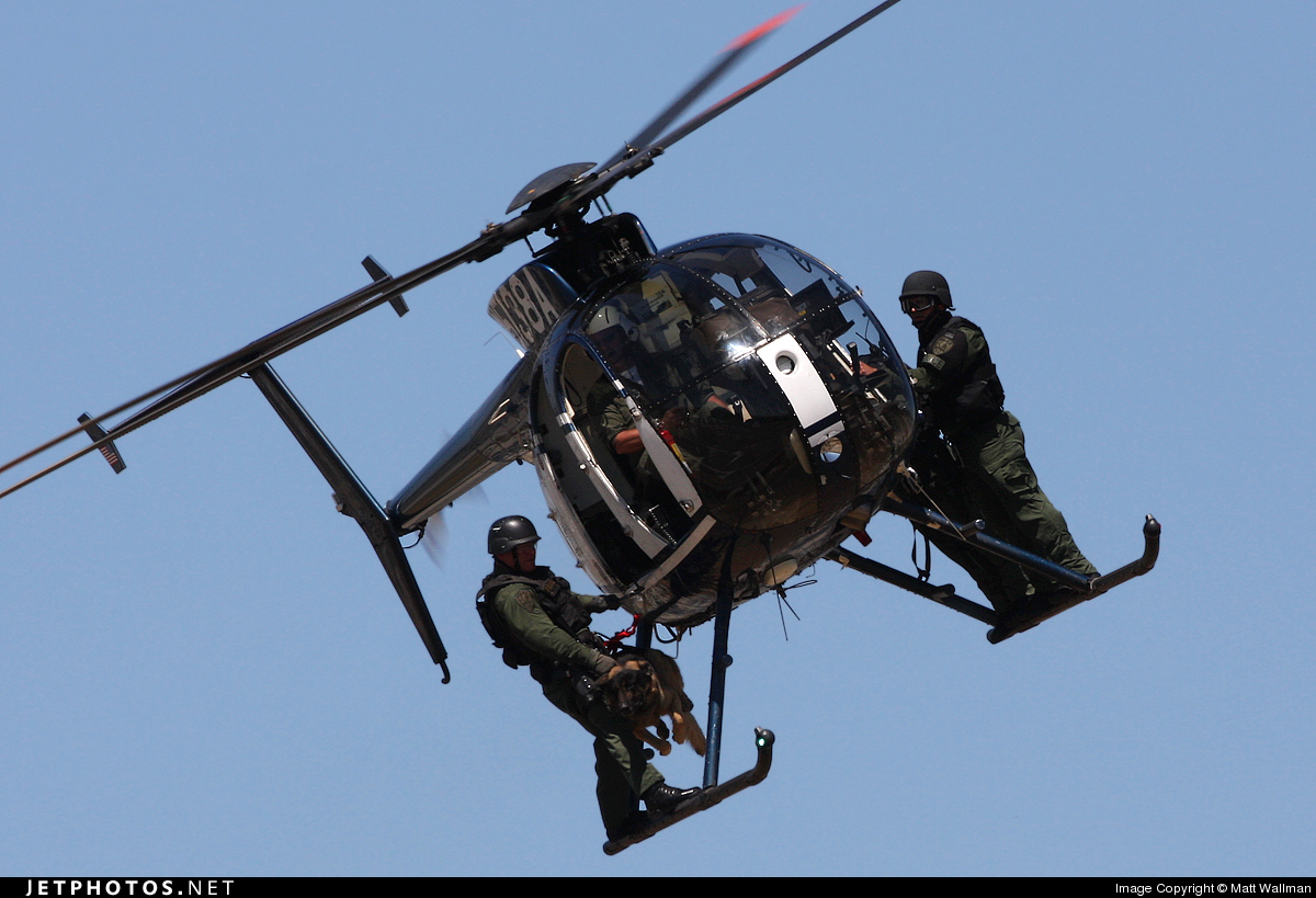 N5138A - Hughes 500D - United States - Riverside Police Department
