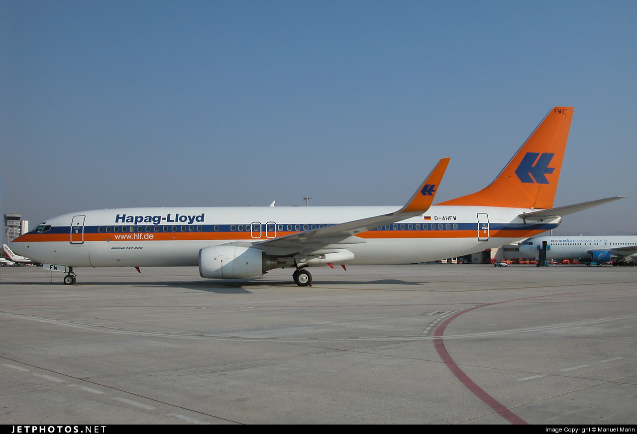 D-AHFW - Boeing 737-8K5 - Hapag-Lloyd