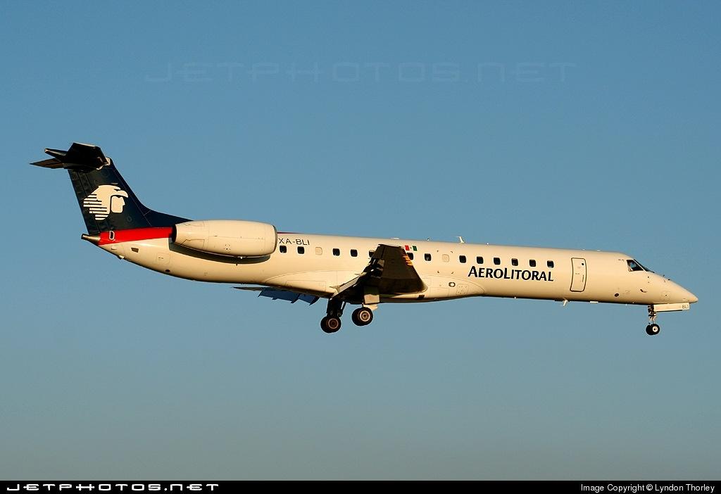 XA-BLI - Embraer ERJ-145LR - Aerolitoral