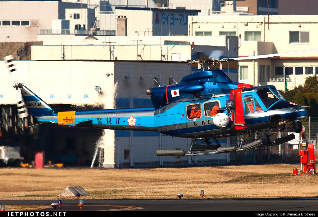JA6704 - Bell 412 - Japan - Police