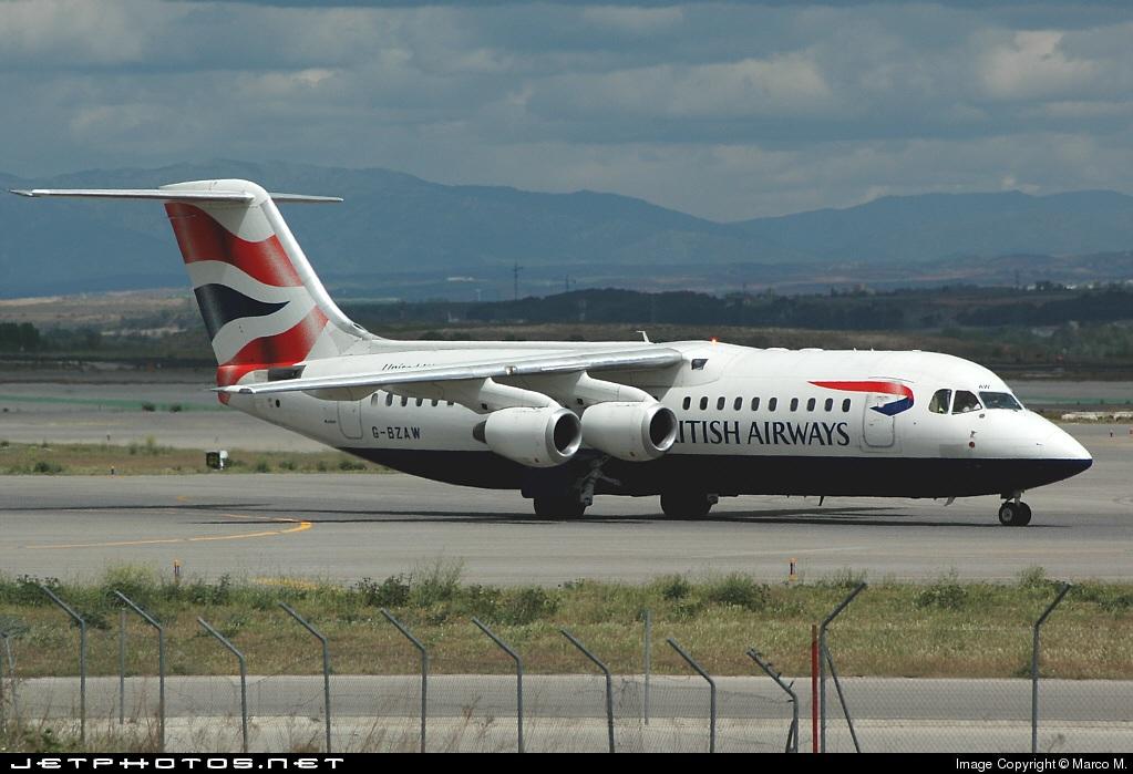 G-BZAW - British Aerospace Avro RJ100 - British Airways (CitiExpress)