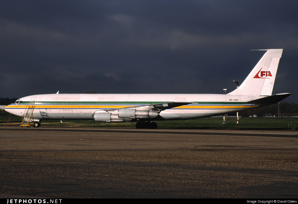 9G-OOD - Boeing 707-399C - First International Airways