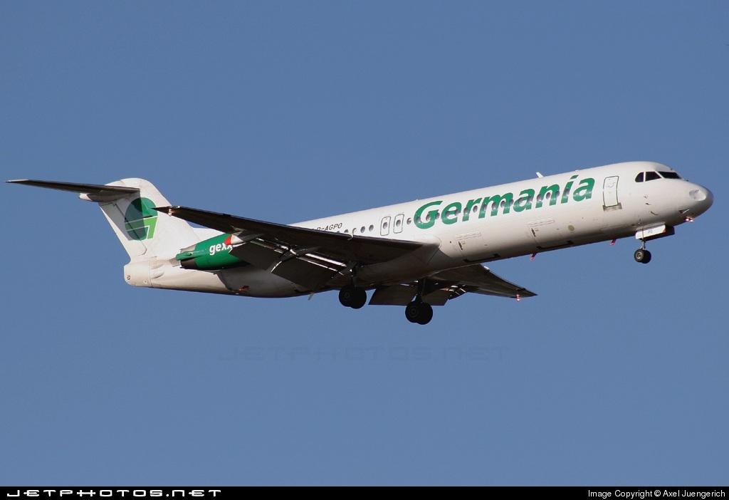 D-AGPO - Fokker 100 - Germania
