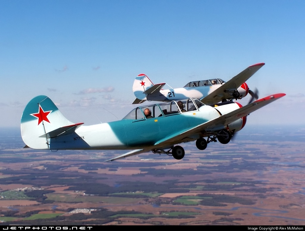 N77YK - Yakovlev Yak-52 - Private