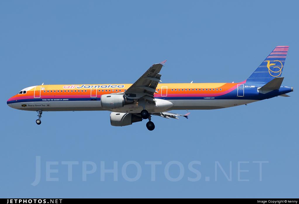 6Y-JMW - Airbus A321-211 - Air Jamaica
