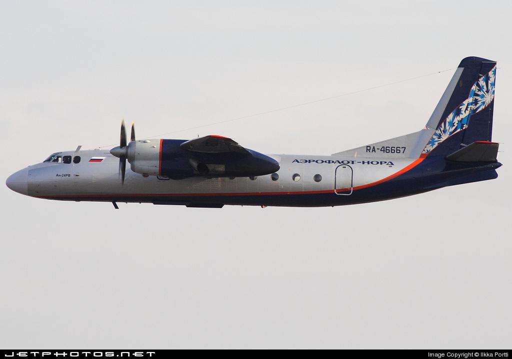 RA-46667 - Antonov An-24RV - Aeroflot-Nord