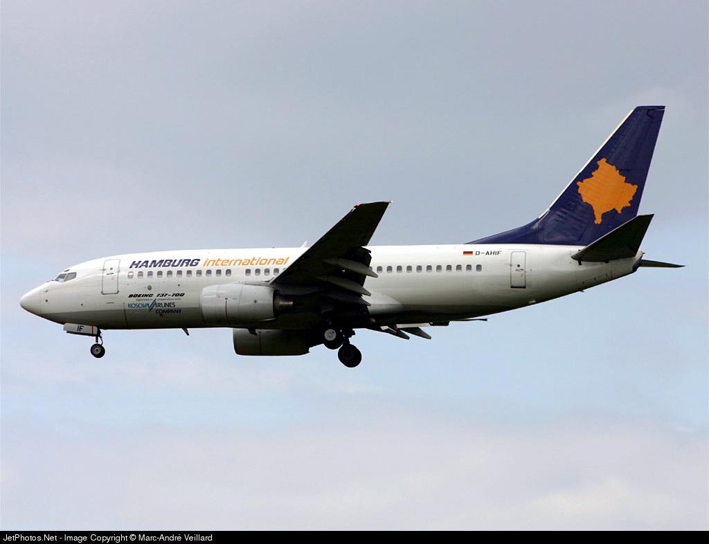 D-AHIF - Boeing 737-73S - Hamburg International (Kosova Airlines)