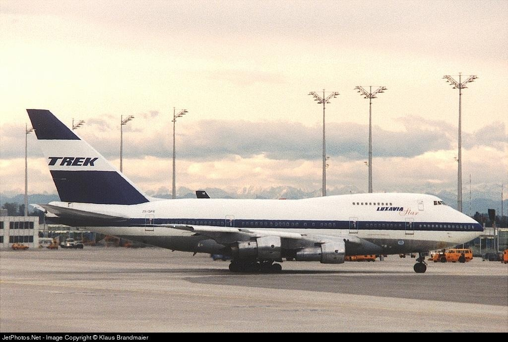 ZS-SPB - Boeing 747SP-44 - Trek Airways
