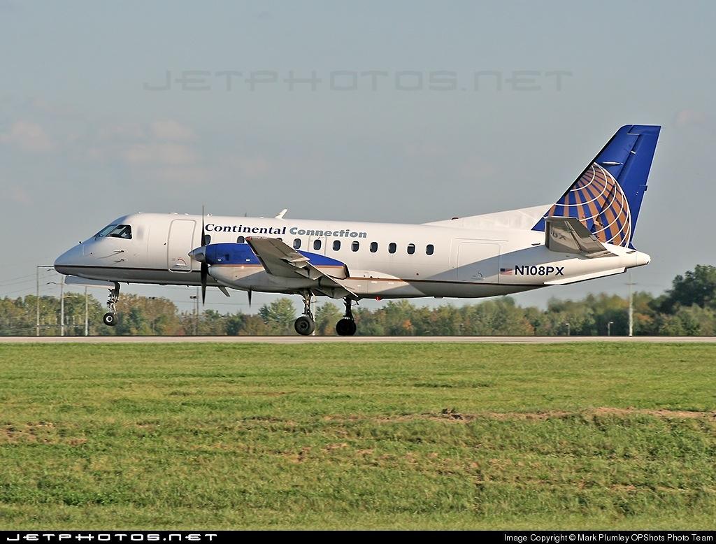 N108PX - Saab 340A - Continental Connection (Regions Air)