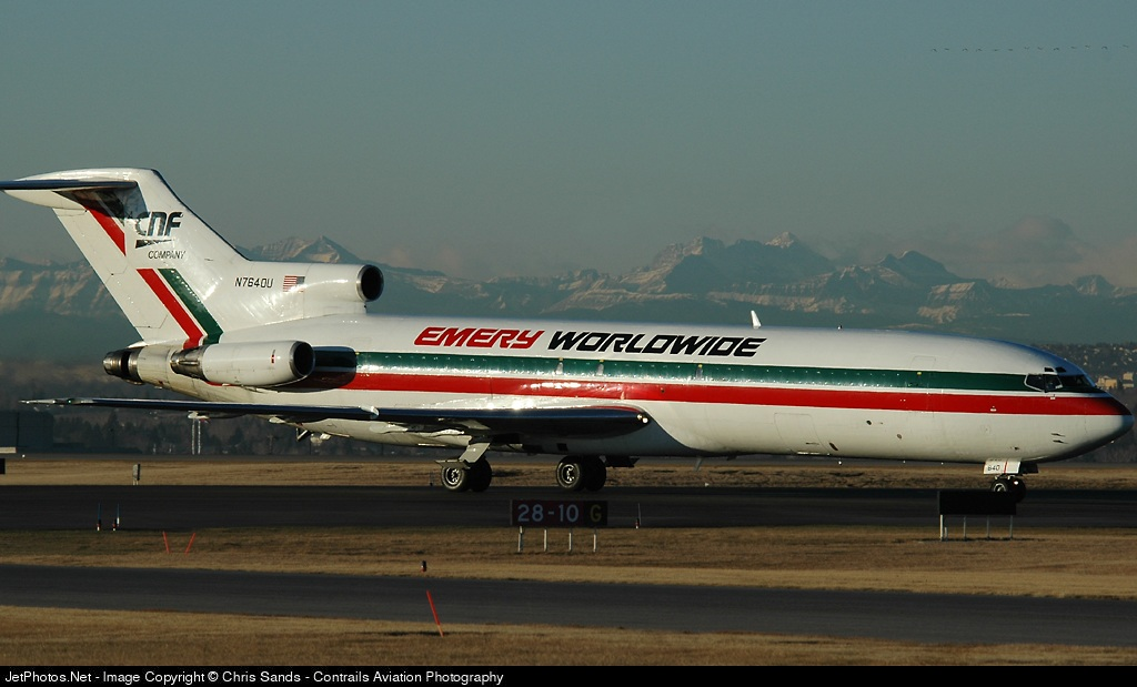 N7640U - Boeing 727-222(F) - Emery Worldwide