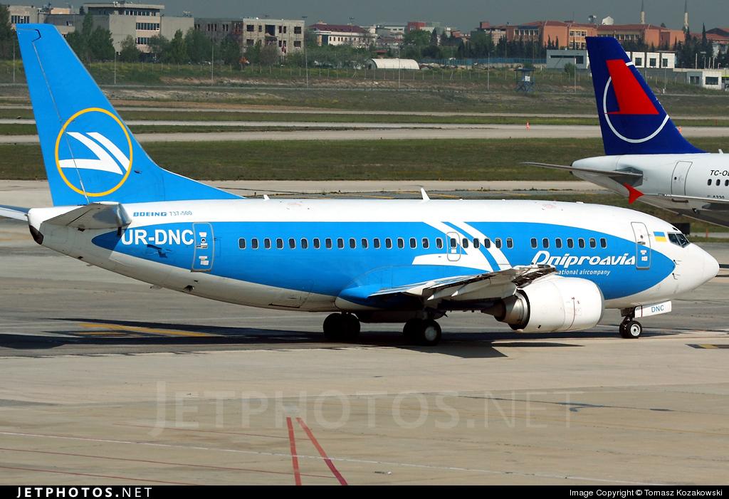 UR-DNC - Boeing 737-5L9 - Dniproavia