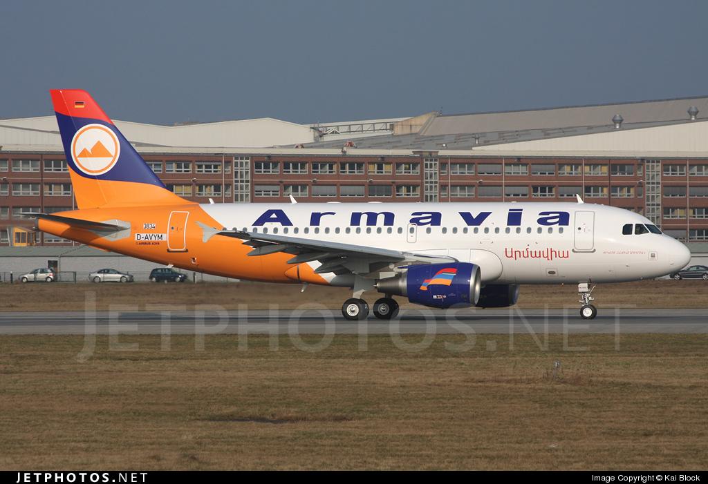 D-AVYM - Airbus A319-111 - Armavia